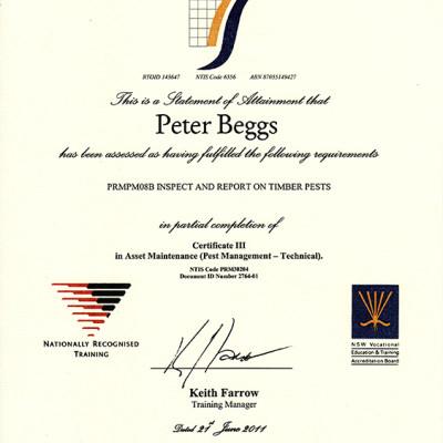 Certified Pest Inspector